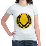 Gold with black Laurel Jr. Ringer T-Shirt