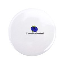 """Cute Blueberries 3.5"""" Button (100 pack)"""