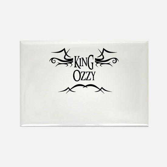 King Ozzy Rectangle Magnet