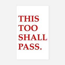 This Too Shall Pass Rectangle Decal