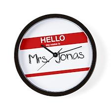 Hello, My name is Mrs. Jonas Wall Clock