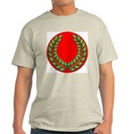 Red with green laurel Ash Grey T-Shirt