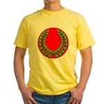 Red with green laurel Yellow T-Shirt