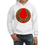 Red with green laurel Hooded Sweatshirt