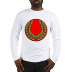 Red with green laurel Long Sleeve T-Shirt