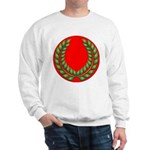 Red with green laurel Sweatshirt
