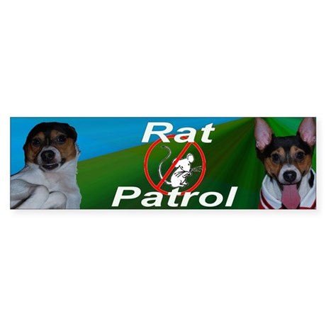Rat Terrier Rat Patrol Bumper Sticker