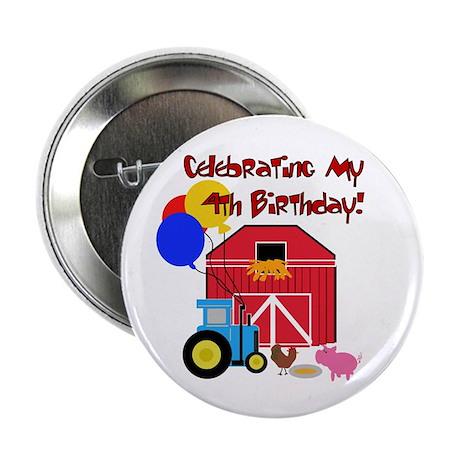 """Farm 4th Birthday 2.25"""" Button (10 pack)"""