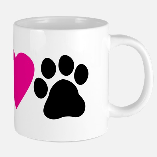 Peace Love Paws 20 oz Ceramic Mega Mug