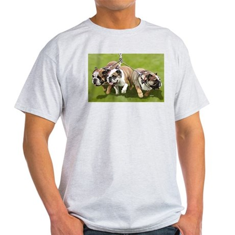 Bulldogs Butts Coming and Going Ash Grey T-Shirt