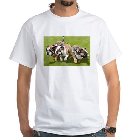 Bulldogs Butts Coming and Going White T-Shirt