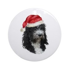 Barbet Christmas Ornament (Round)
