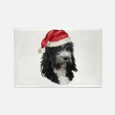 Barbet Christmas Rectangle Magnet (10 pack)