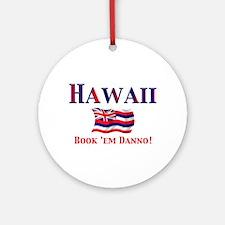 Hawaii Book 'Em Ornament (Round)