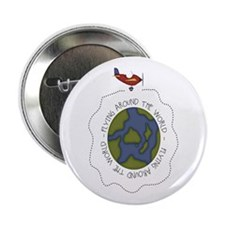 "Flying Airplane 2.25"" Button"