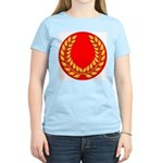 Red with gold laurel Women's Pink T-Shirt