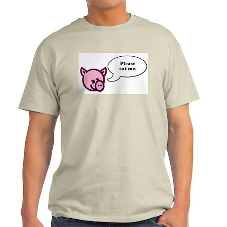 Please Eat Me - Pig Ash Grey T-Shirt