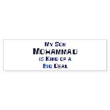 My Son Mohammad Bumper Bumper Sticker