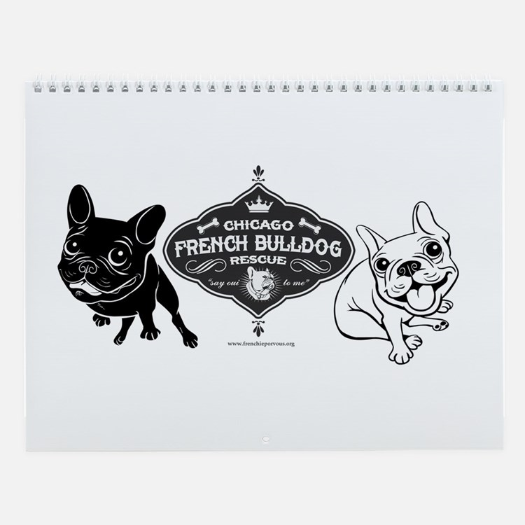Cute Chicago french bulldog rescue Wall Calendar
