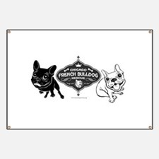 Cute French bulldogs Banner