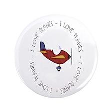 """I Love Planes 3.5"""" Button"""