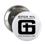 "GODS WIL 2.25"" Button"