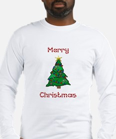 Merry Christmas Police Tree Long Sleeve T-Shirt