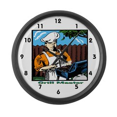 Grill Master Large Wall Clock