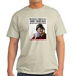 Shut Your Face Ash Grey T-Shirt