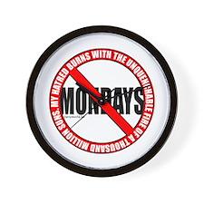 No Mondays2 Wall Clock