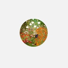 Klimt's Flower Garden Mini Button