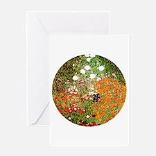 Klimt's Flower Garden Greeting Card