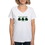 Recycled Cane Corso Women's V-Neck T-Shirt