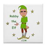 Robby The Elf Tile Coaster