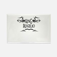 King Rogelio Rectangle Magnet