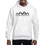 Penguin family with 2 girls Hooded Sweatshirt