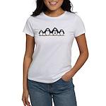 Penguin family with 2 girls Women's T-Shirt
