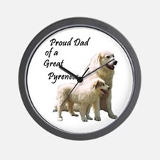 Proud Dad of a Great Pyrenees Wall Clock