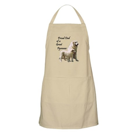 Proud Dad of a Great Pyrenees BBQ Apron