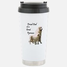 Proud Dad of a Great Pyrenees Travel Mug