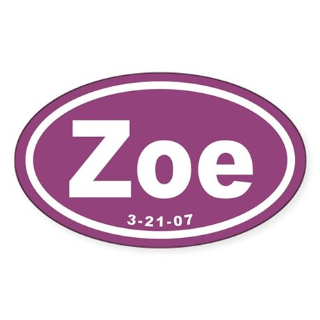 Zoe Euro Oval Sticker
