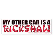 Rickshaw Bumper Bumper Sticker