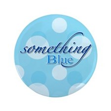 "Something Blue 3.5"" Button"