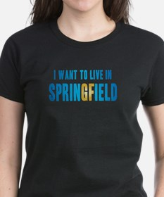 I Want To Live In Springfield Tee