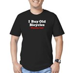 I Buy Old Bicycles Men's Fitted T-Shirt (dark)