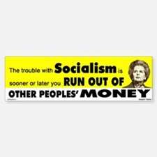 Thatcher Socialism Quote Bumper Bumper Bumper Sticker