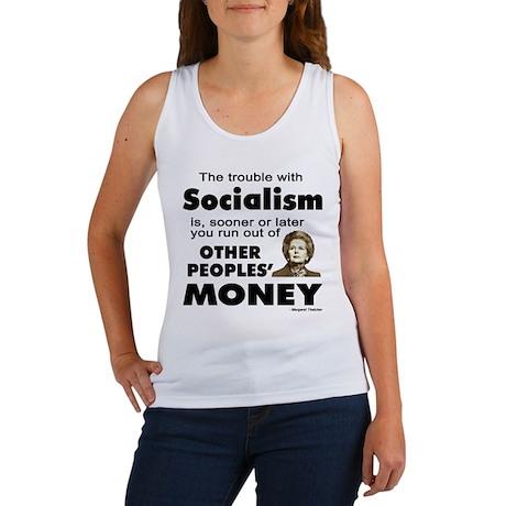 Thatcher Socialism Quote Women's Tank Top