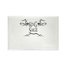 King Saige Rectangle Magnet