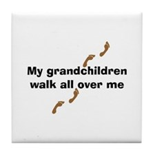 Grandchildren Walk Tile Coaster