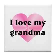 Love My Grandma Tile Coaster